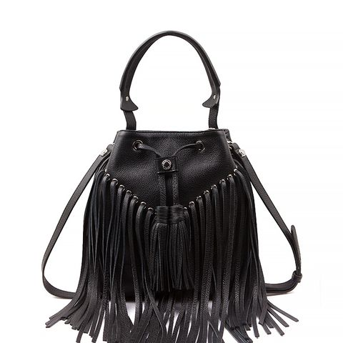 Anik Fringe Bag, Black