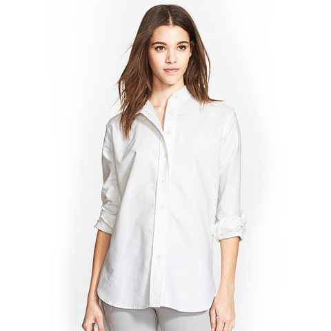 Le Tunic Oxford Shirt, Blanc