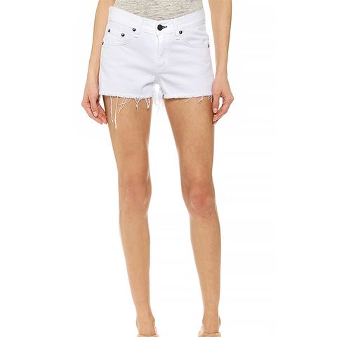 Cutoff Shorts, Bright White