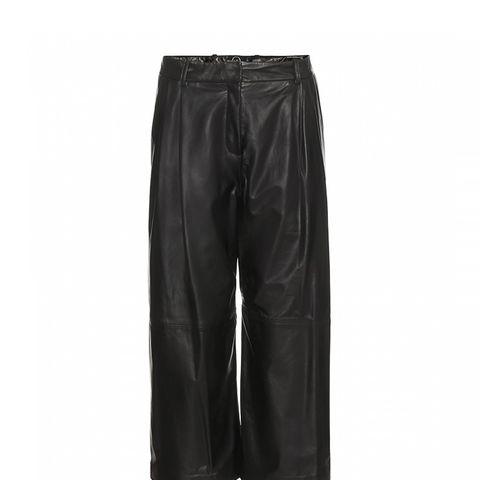 Leather Culottes, Black