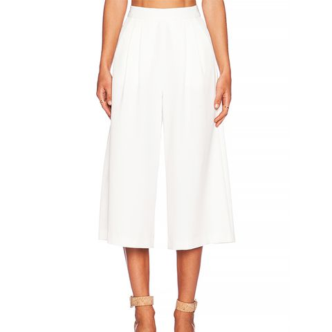 Power Trip Culotte, White