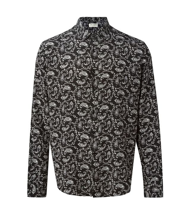 Saint Laurent Paisley Print Shirt