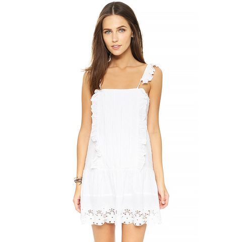 Annabel Ruffle Dress, White