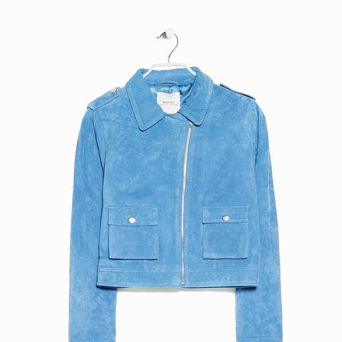 Suede Jacket, China Blue