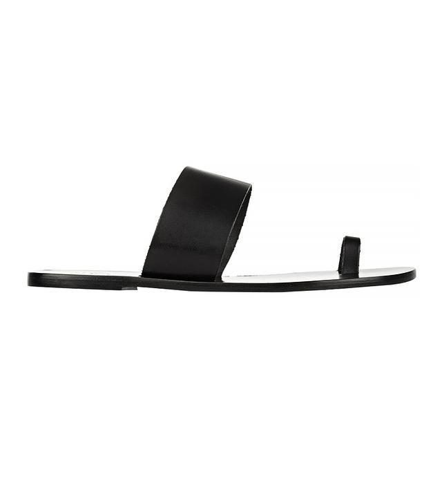 ATP Atelier Astrid leather Slides, Black