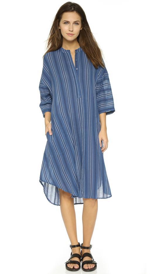 BCBGMaxAzria Kieley Dress, Dark Vintage Blue Combo