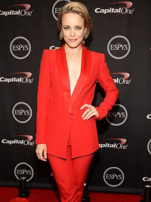 The Red Carpet Way to Wear a Red Blazer
