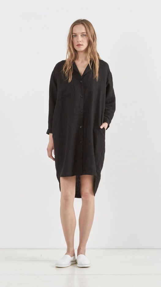 Rachel Comey Risible Shirt Dress, Black