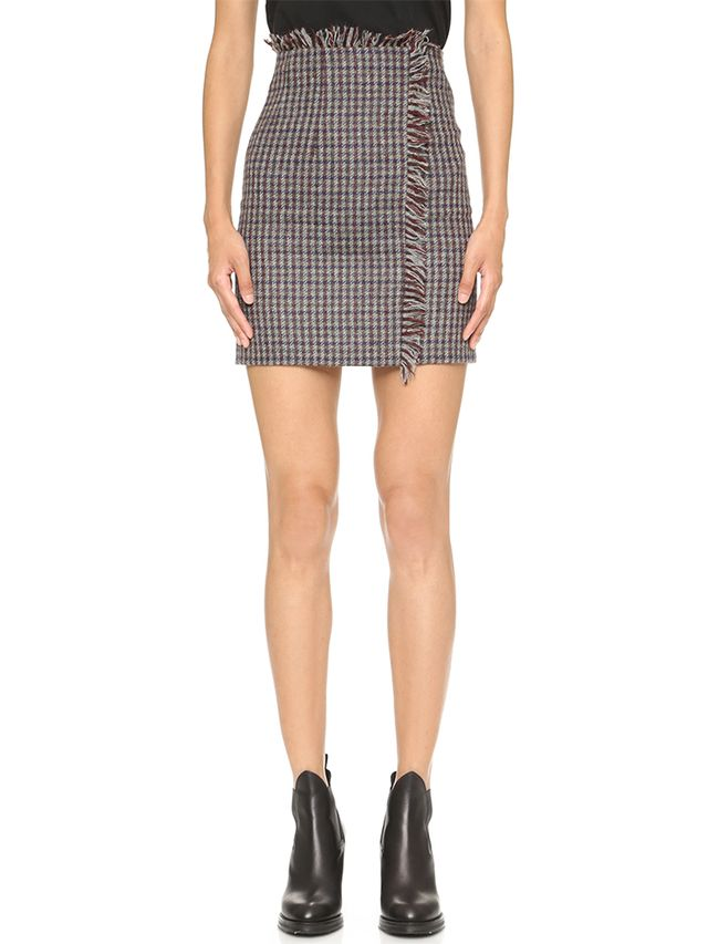 Acne Studios Punta Check Skirt