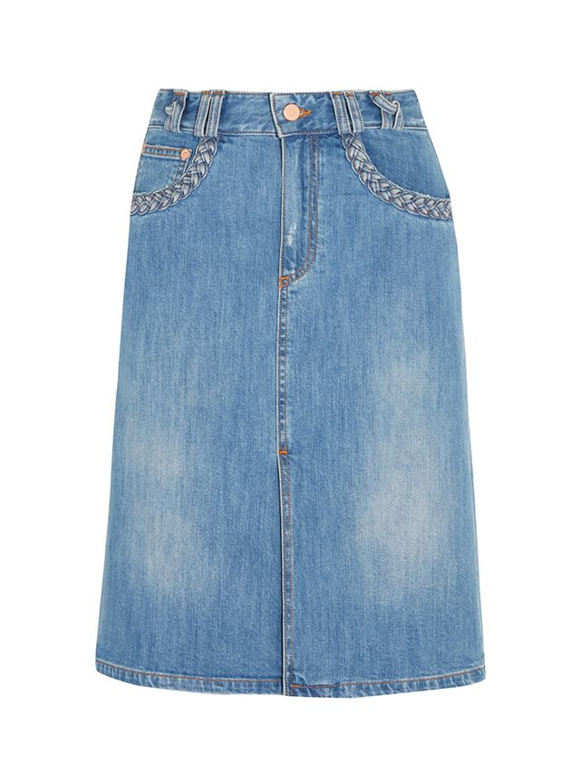 See by Chloé Stonewashed Denim Skirt