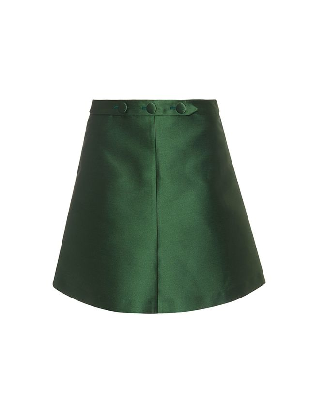 RedValentino A-Line Satin Mini Skirt