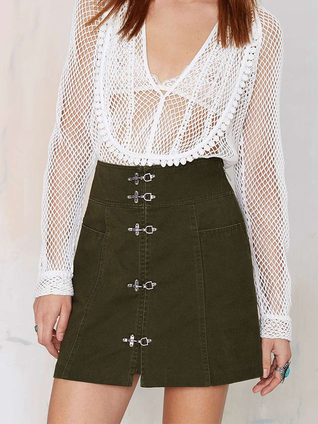 Nasty Gal Renegade Buckle Skirt