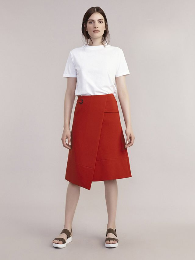 Atterley Orange Wrap Eyelet Skirt