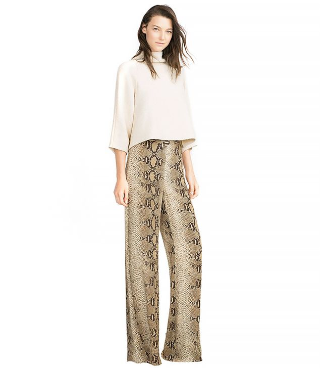 Zara Printed Wide Leg Trousers