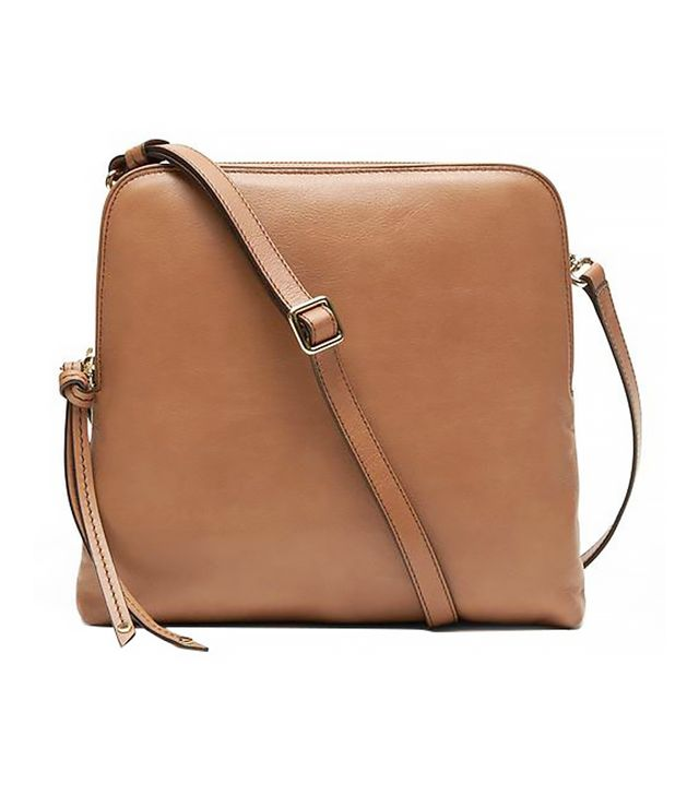 Banana Republic Double Pouch Crossbody Bag, Caramel