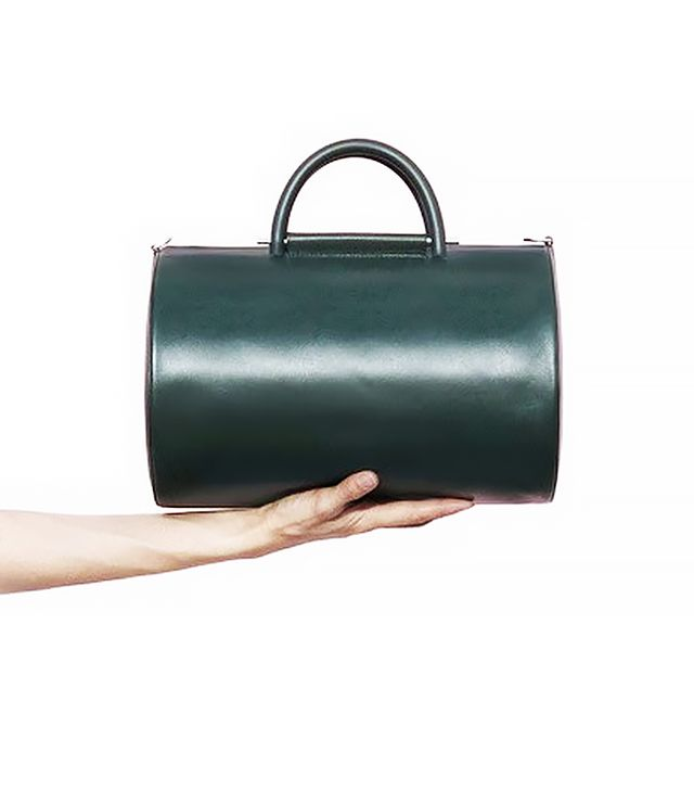 Building Block Green Cylinder Duffel Bag