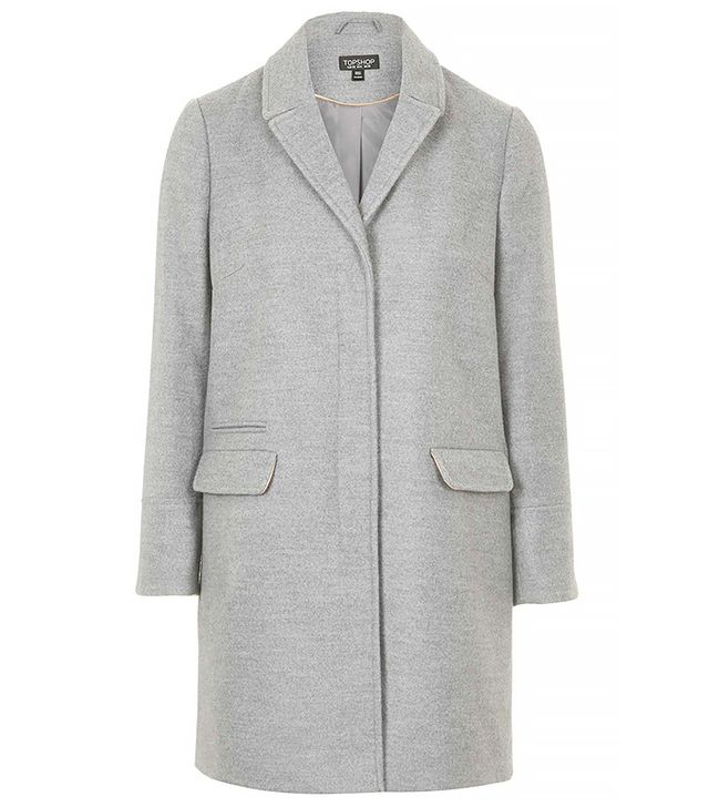 Topshop Slim Pocket Coat, Grey