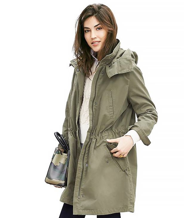 Banana Republic Military Parka, Tigers Eye Green