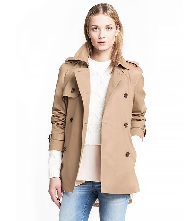 Banana Republic Swing Trench Coat, Coconut Husk