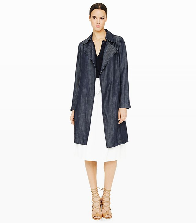 Club Monaco Dagny Denim Trench, Denim