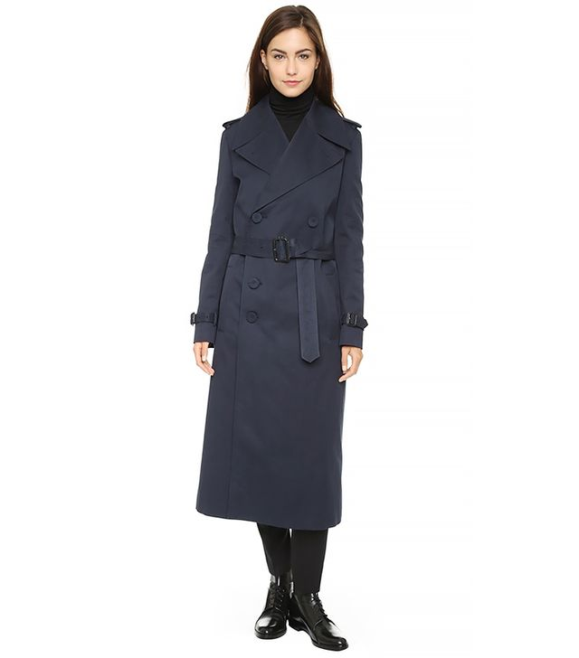 Joseph Townie Long Coat, Navy