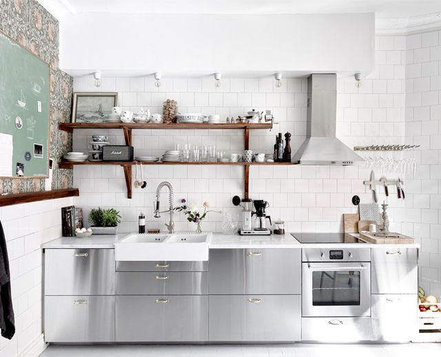 Stainless Steel Kitchen   Ikea Kitchens. The Most Stylish IKEA Kitchens We ve Seen   MyDomaine