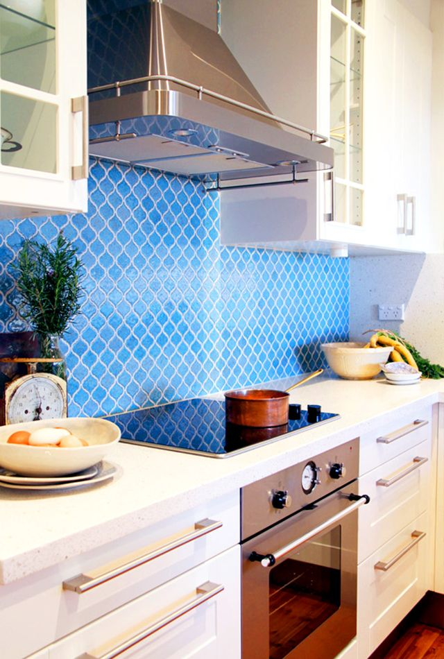 In this home, IKEA cabinetry and hardware are again mixed with colorful statement tile to create a unique look. When utilizing the affordable cabinetry components at IKEA, more of the...