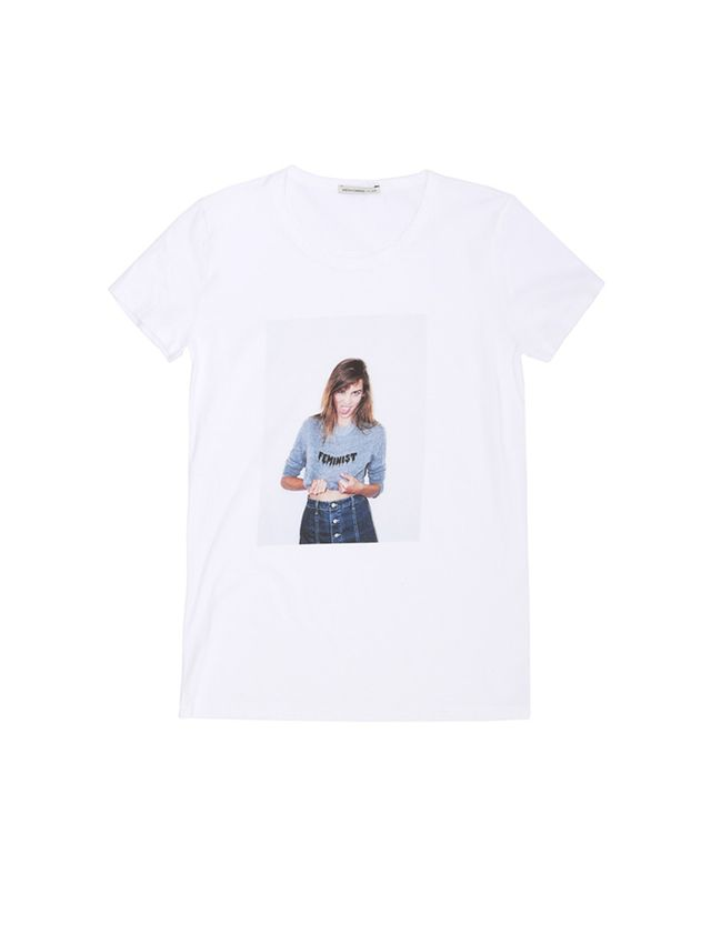 Alexa Chung for AG The Selfie Tee