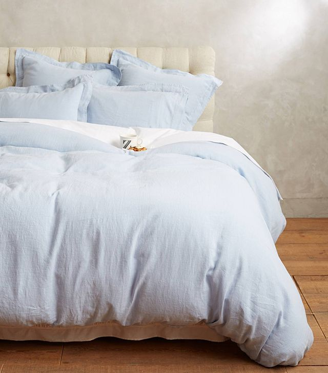 Anthropologie Soft-Washed Linen Duvet
