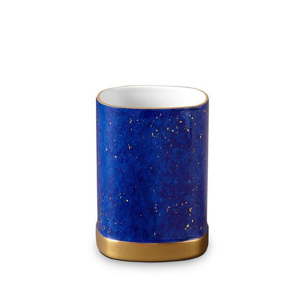 L'Objet Lapis Porcelain & 24K Gold Pencil Cup