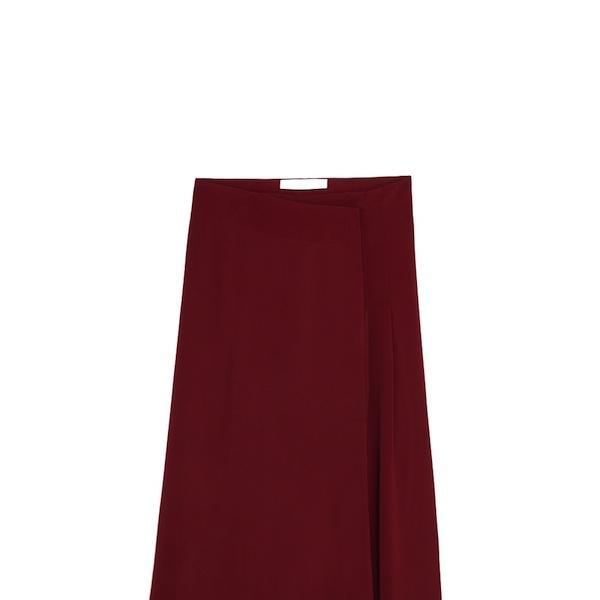 Mango Premium Flowy Wrapped Skirt