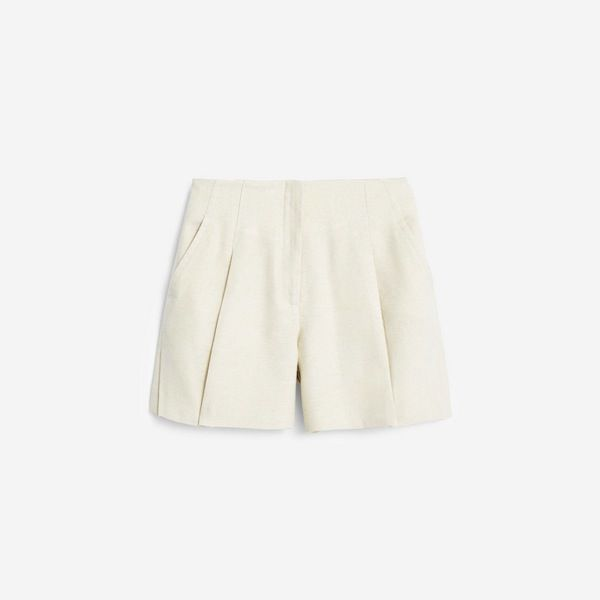 Mango Premium Pleat Linen Short