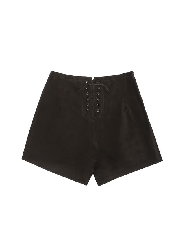 Alexa Chung for AG The Mabel Suede Shorts