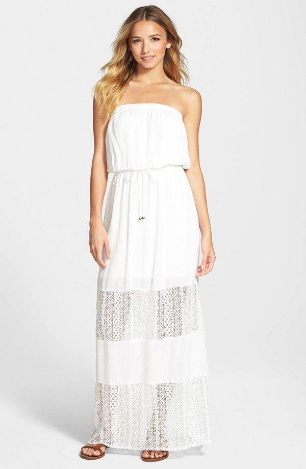 Socialite Lace Inset Maxi Dress