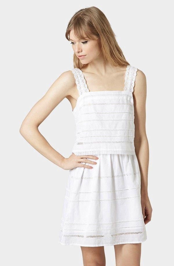 Topshop Lace Trim Overlay Sundress