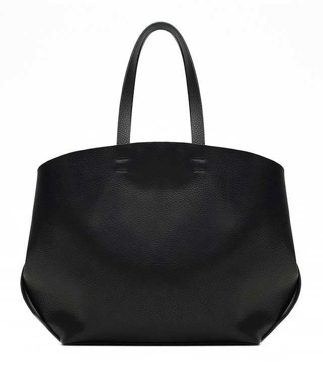Zara Contrasting Shopper Tote Bag