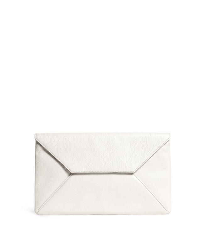 Brooks Brothers Pebble Calfskin Envelope Clutch