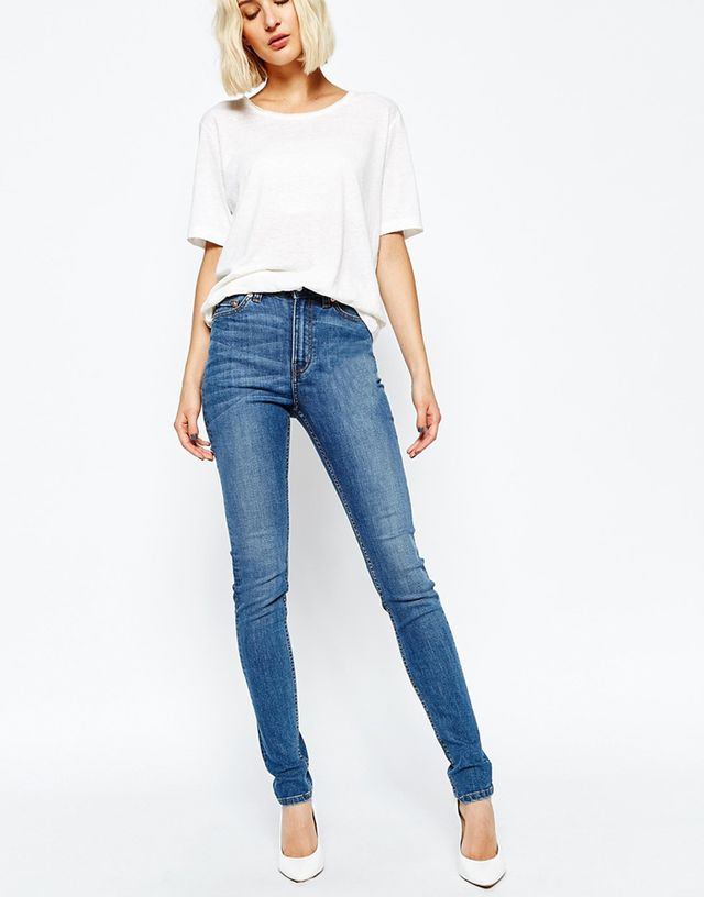 Weekday Thursday High Waist Skinny Jeans