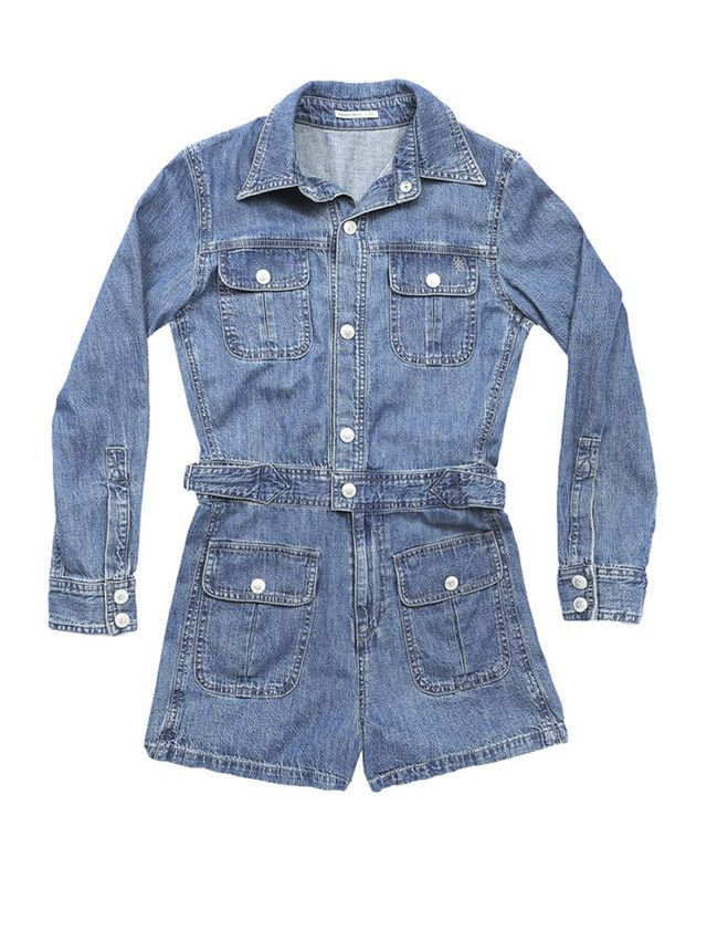 Alexa Chung for AG Loretta Denim Romper