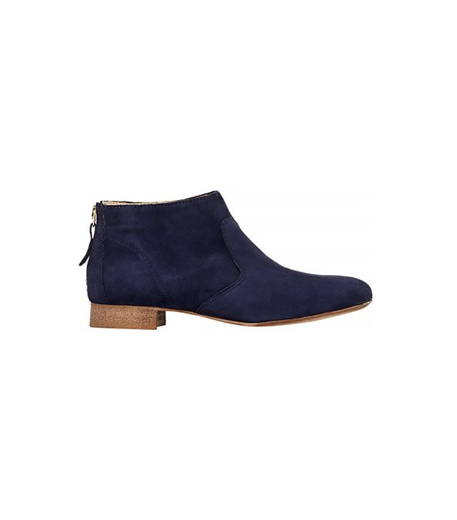 Barneys Back-Zip Ankle Boots, Navy