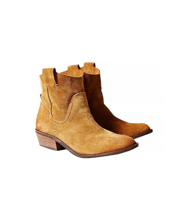 Dolce Vita Colynn Western Ankle Boot, Brown
