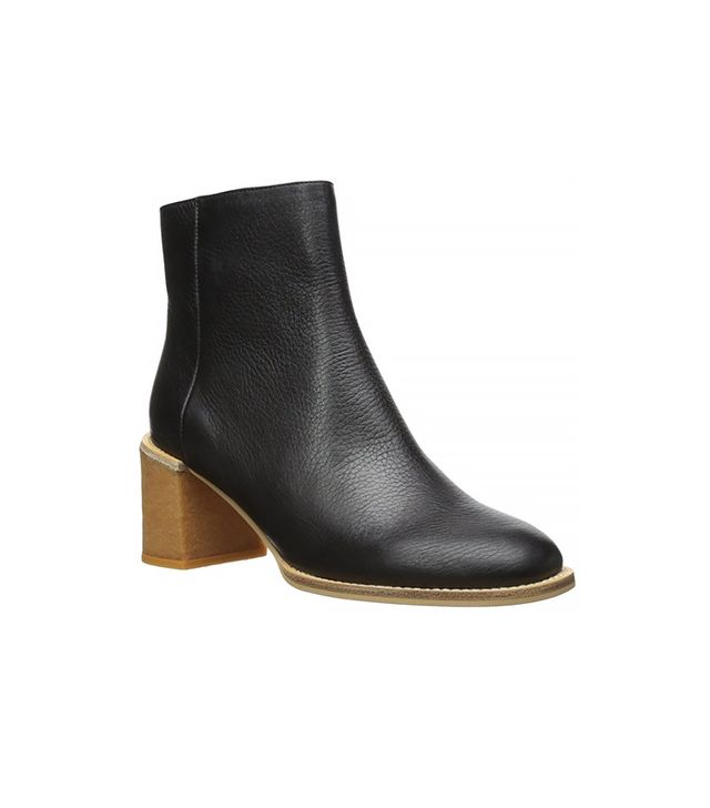 See by Chloé Stacked Heel Ankle Boot, Black