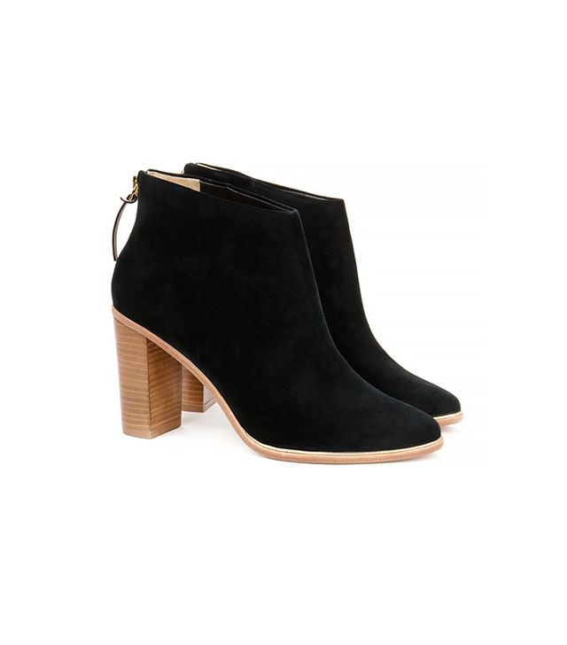 Ted Baker Suede Heeled Ankle Boots, Black