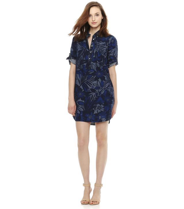 Joe Fresh Print Denim Shirt Dress