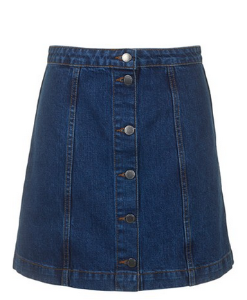 Topshop Moto Front A-Line Skirt