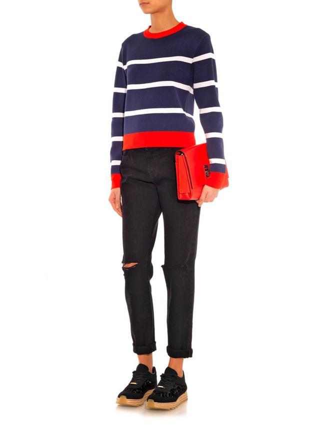 Être Cécile Striped Stretch-Knit Sweater