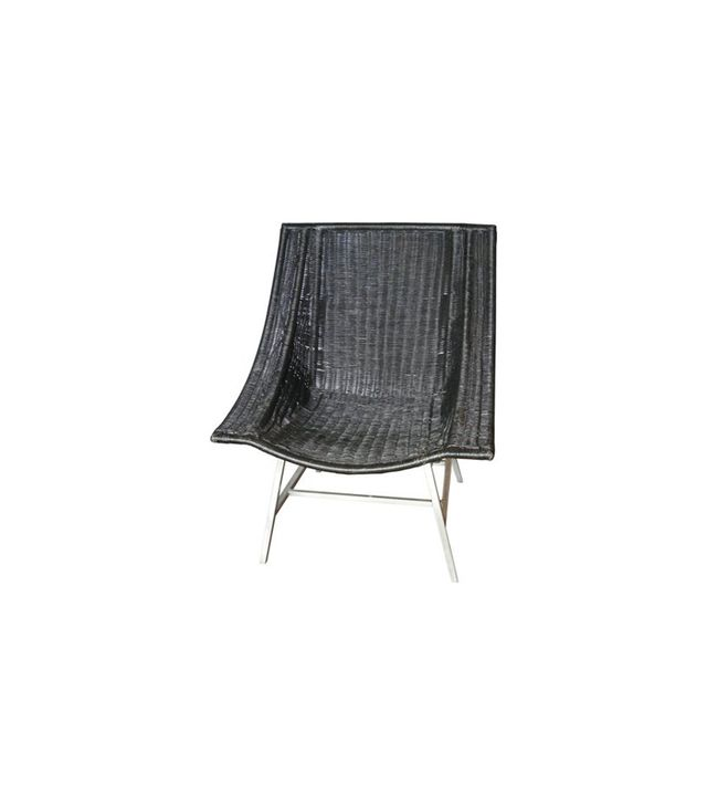 Verdigris Modernist Wicker Lounge Chair