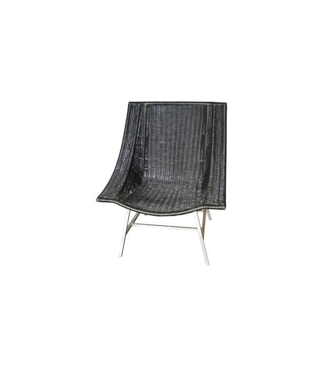 Verdigris Modernist Wicker Lounge Chair
