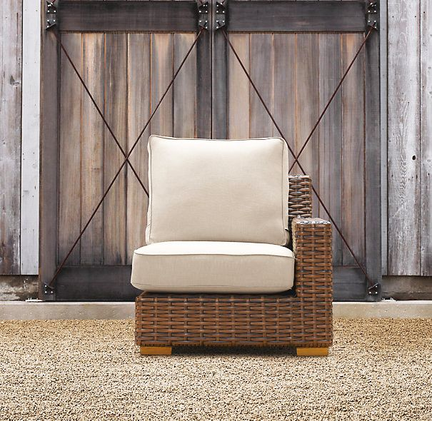 Restoration Hardware Antigua Right Arm Chair