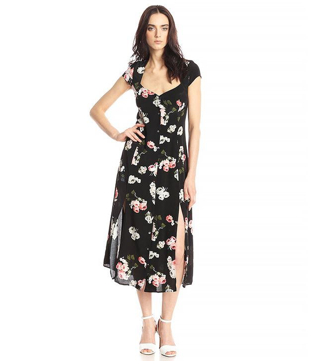 Minkpink Moon Flower Midi Dress